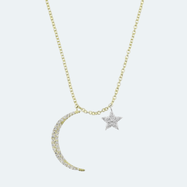 Crescent Moon and Star Necklace Preview Image