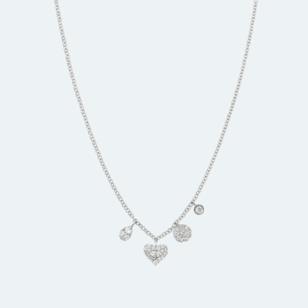 Mini Heart Charm Necklace Preview Image