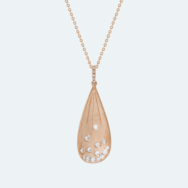Rose Gold and Diamond Necklace Preview Image