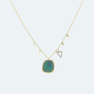 Yellow Gold Opal Necklace Preview Image