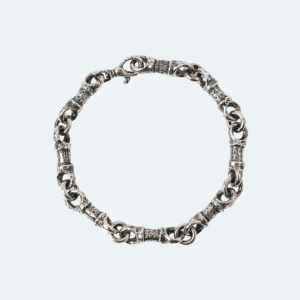SILVER LINK HAMMERED MENS BRACELET Preview Image