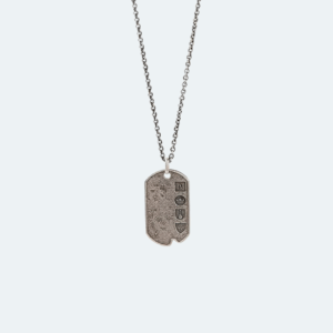 Preview Image of the Sterling Silver Artisan Metals Logo Dog Tag Necklace